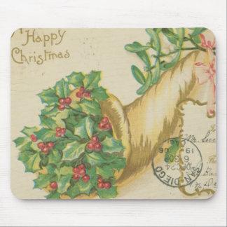 Vintage Christmas Decorations Mouse Pad