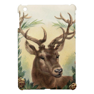 Vintage Christmas Deer iPad Mini Case
