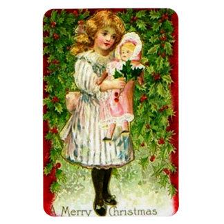Vintage Christmas Doll Premium Flexi Magnet
