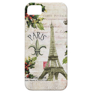 Vintage Christmas Eiffel tower iphone cover