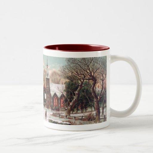 Vintage Christmas Eve Coffee Mug
