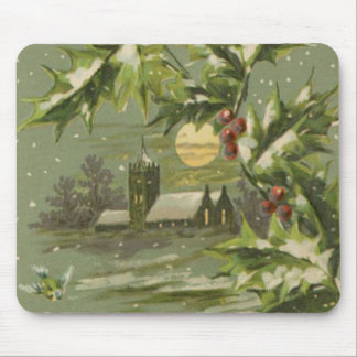 Vintage Christmas Eve Night Mouse Pad