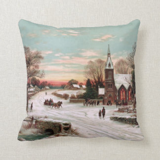 Vintage Christmas Eve Pillow