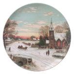 Vintage Christmas Eve Plate