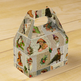Vintage Christmas Favor Box