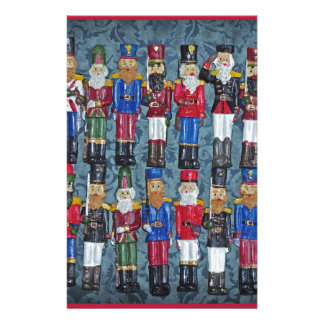 Vintage Christmas Figures, old soldiers Stationery