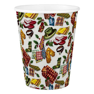 Vintage Christmas For Him Paper Cup