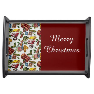 Vintage Christmas For Him Serving Tray