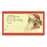 Vintage Christmas Gift Tag Business Card