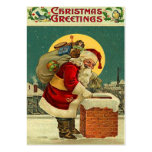 Vintage Christmas Gift Tags Business Card Templates