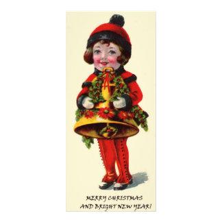 Vintage Christmas Girl Custom Rack Card