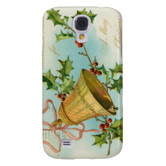 Vintage Christmas Gold Bells Galaxy S4 Cases