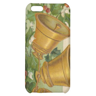 Vintage Christmas Gold Bells Frozen Holly iPhone 5C Cover