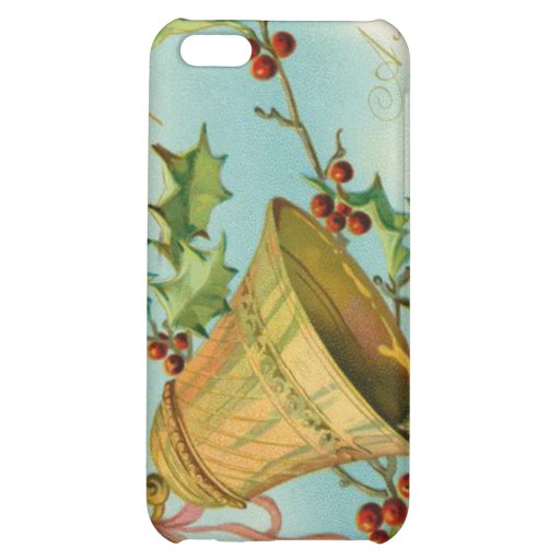 Vintage Christmas Gold Bells iPhone 5C Cases
