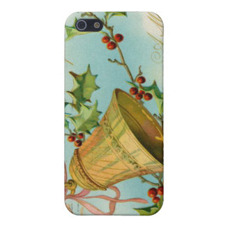 Vintage Christmas Gold Bells iPhone 5 Covers