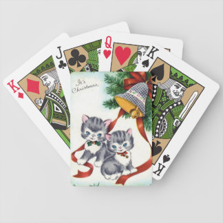 Vintage Christmas Green Bicycle Playing cards