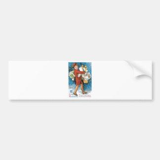 Vintage Christmas Greeting Bumper Sticker