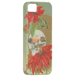 Vintage Christmas Greetings- Bells & Flowers iPhone 5 Cases