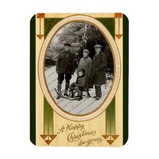 Vintage Christmas Greetings Photo Magnet