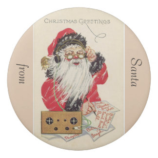 Vintage-Christmas greetings -Santa Eraser