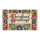 Vintage Christmas Greetings with Decorative Border Pack Of Standard Business Cards