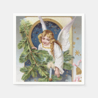 Vintage Christmas Holiday Angel party napkins Disposable Napkins