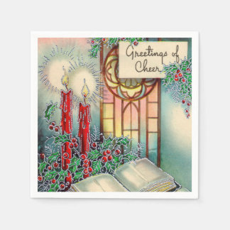 Vintage Christmas Holiday Church party napkins Disposable Serviettes