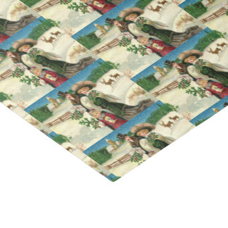 Vintage Christmas Holiday Family party tissue Tissue Paper