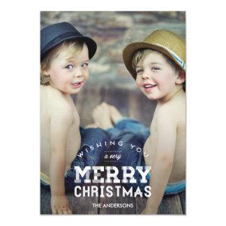 Vintage Christmas Holiday Photo Cards 13 Cm X 18 Cm Invitation Card
