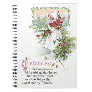 Vintage Christmas Holidays Nostalgia Old Fashioned Notebook