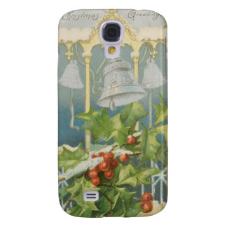 Vintage Christmas Holly and Bells Samsung Galaxy S4 Case
