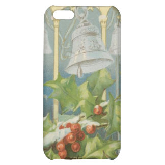 Vintage Christmas Holly and Bells iPhone 5C Case