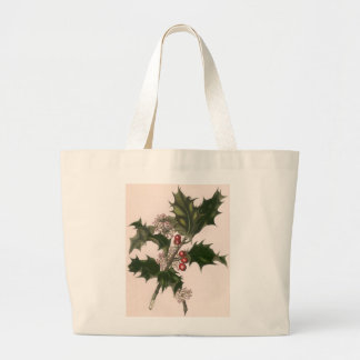 Vintage Christmas, Holly and Berries Bag