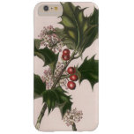 Vintage Christmas, Holly and Berries Barely There iPhone 6 Plus Case