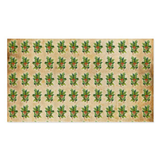 Vintage Christmas Holly Berries Pack Of Standard Business Cards