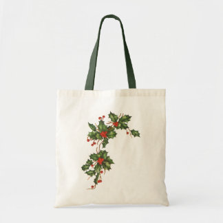 Vintage Christmas, Holly with Red Berries Bags