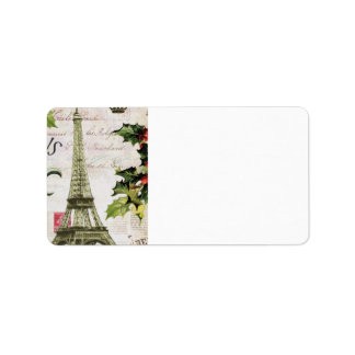 Vintage christmas in Paris Label