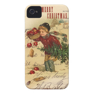 Vintage Christmas iphone 4 Cover