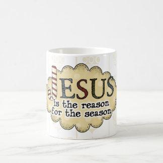 Vintage Christmas Jesus is the Reason Coffee Cup
