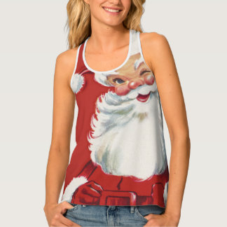 Vintage Christmas, Jolly Winking Santa Claus Singlet
