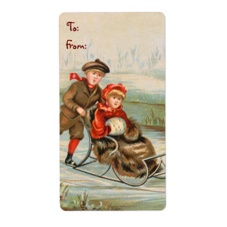 Vintage Christmas Labels for Gifts