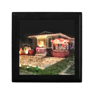 Vintage Christmas Lights and Decorations Gift Box