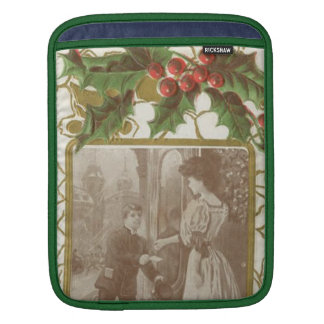 Vintage Christmas Love and Holly Sleeves For iPads