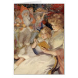 Vintage Christmas, Mother Reading Bedtime Story Greeting Card