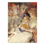 Vintage Christmas, Mother Reading Bedtime Story 5x7 Paper Invitation Card