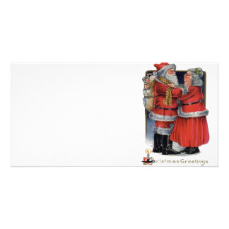 Vintage Christmas - Mr and Mrs Claus Photo Cards