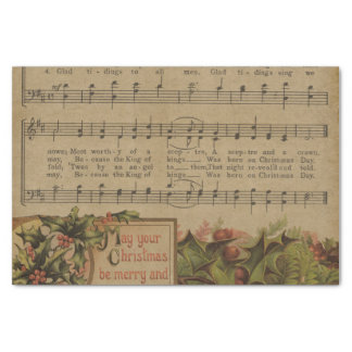 Vintage Christmas Music Sheet Holiday