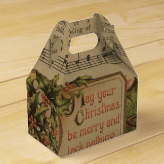 Vintage Christmas Music Sheet Holiday Favour Box