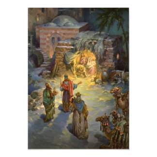 Vintage Christmas Nativity Magi Invitation