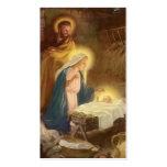 Vintage Christmas Nativity, Mary Joseph Baby Jesus Business Card Template